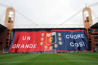 Coreografia dei tifosi del Genoa nel 2015