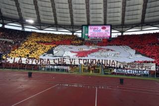 Coreografia della Sud del derby di Roma del 2010