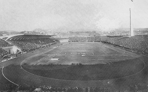 Lo Stadio Franchi completato