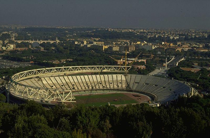 Il restyling dello Stadio_Olimpico di Roma nel 1989