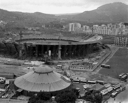Lo Stadio San Paolo in costruzione