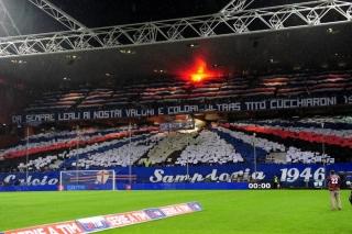 Coreografia dei tifosi della Sampdoria