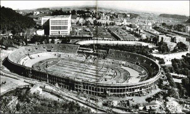 La costruzione dello Stadio Olimpico di Roma