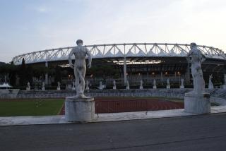 L'esterno dello Stadio Olimpico di Roma