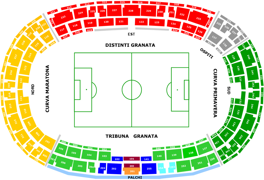 Cartina Stadio Olimpico Roma.Stadio Olimpico Grande Torino Guida E Informazioni Utili